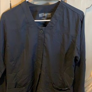 Greys anatomy scrub jacket medium charcoal grey